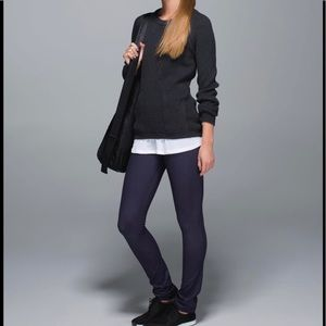 New Lululemon Skinny Groove pants in black grape 8
